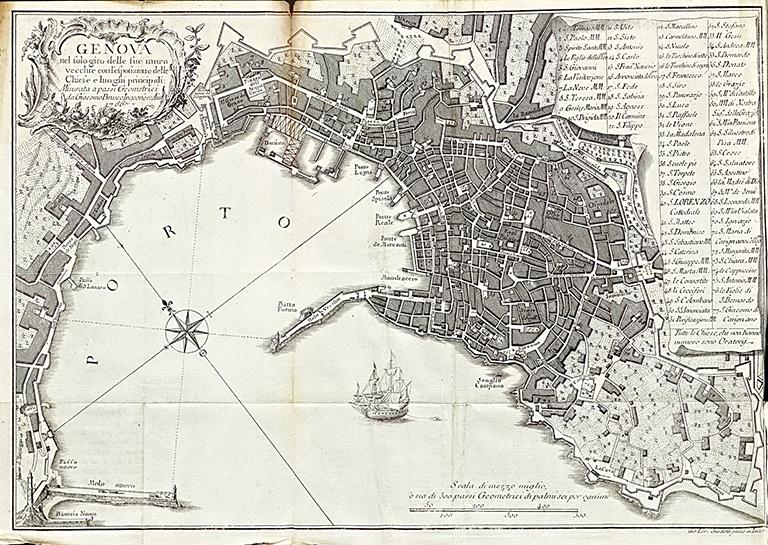 Mappa Genova 1766