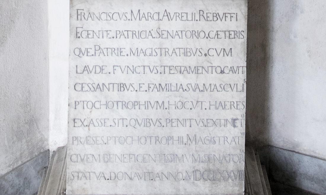 statue_franciscus-marci-aurelii-rebuffi_03 - Albergo dei Poveri Genova