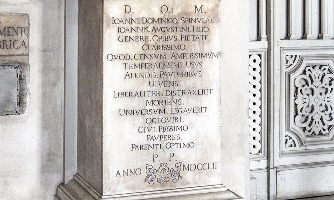 statue_ioanni-dominico-spinulae_03 - Albergo dei Poveri Genova