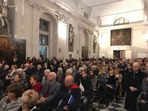 la chiesa dell' Albergo dei Poveri di Genova durante la presentazione del libro su Emanuele Brignoel