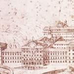stampa antica dell' Albergo dei Poveri